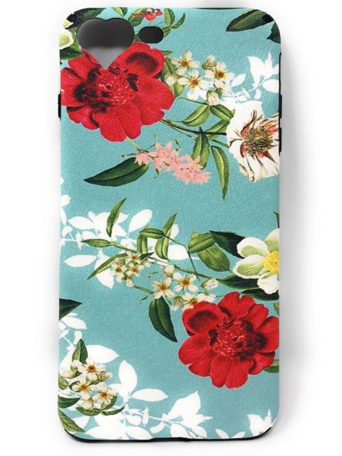 Floral Soft Case with Strip for iPhone