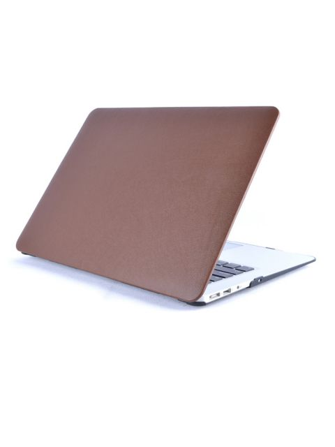 Emobik PU Leather Front Brown Case for New Apple Macbook Pro with/without Touchbar