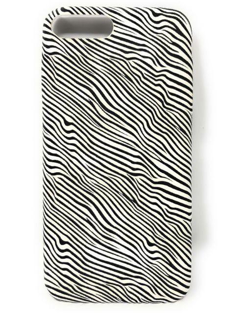 Zebra Patterened Soft Gel Back Case for iPhone