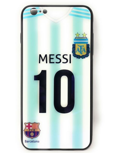MESSI Hard Glass Back Case for iPhone