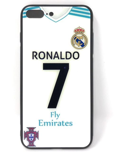 RONALDO Hard Glass Back Case for iPhone