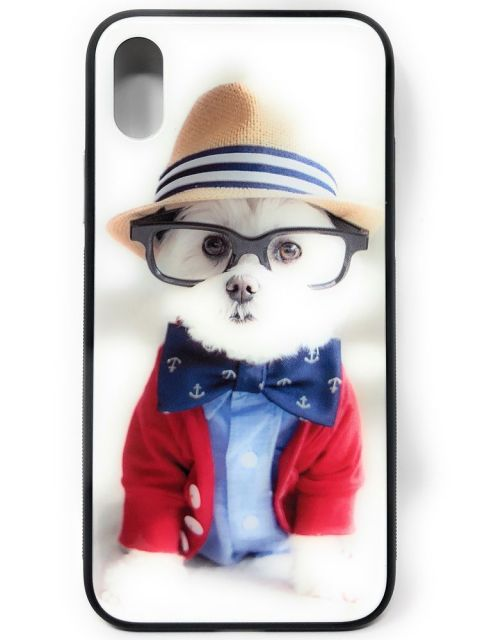 Smart Puppy Hard Glass Back Case for iPhone