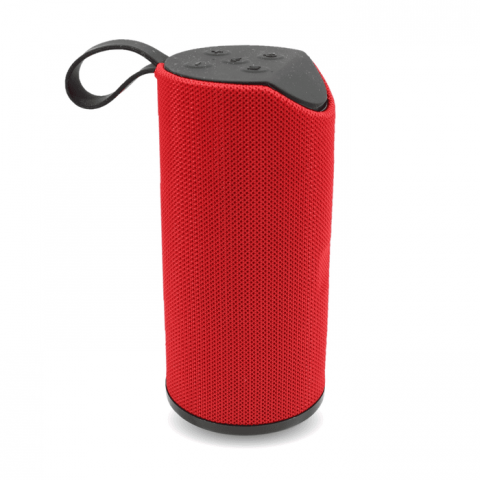 Emobik SoundPure Portable Wireless Bluetooth Speaker with Mic, Super Bass Sound(Red)