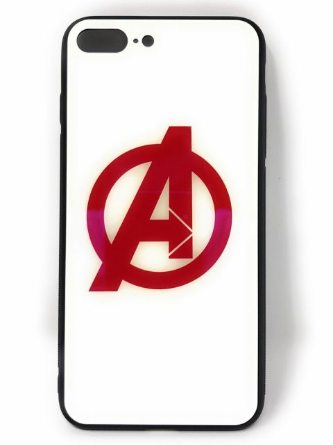 Avengers logo Hard Glass Back Case for iPhone