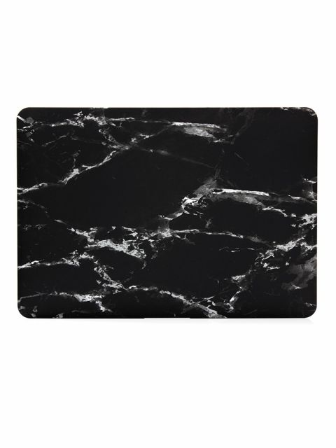 Emobik Matte Black Marble Printed Case for New Apple Macbook Pro with/without Touchbar
