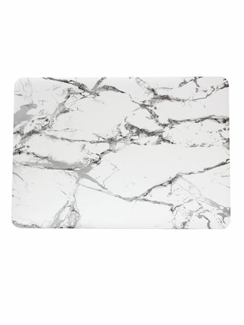 Emobik Matte White Marble Printed Case for New Apple Macbook Pro with/without Touchbar