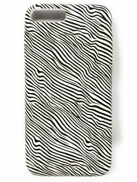 Zebra Patterened Soft Gel Back Case for iPhone