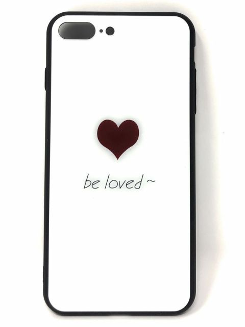 BE LOVED Hard Glass Back Case for iPhone